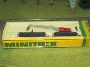 Minitrix Trix Kranwagen Rot mit