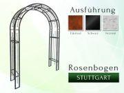 Eisen- Metall- Gartenbogen STUTTGART Breite