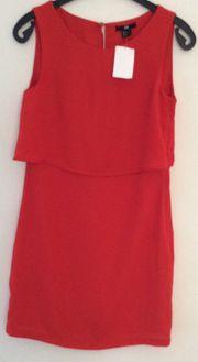 Rotes Kleid ungetragen Gr 34