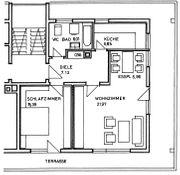 2-Zi Penthouse-Wohnung zu verkaufen
