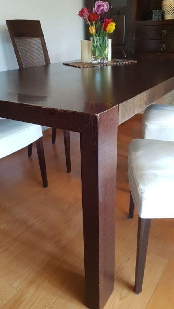 Esstisch Ausziehbar Mit Extra Platte Massiv Mit 6 Stühlen
