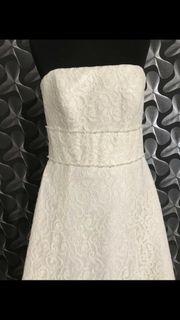 Hochzeitskleid Brautkleid Standesamtkleid Fotoshooting