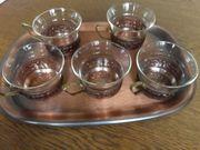 Teeservice Kupfer 70er Jahre