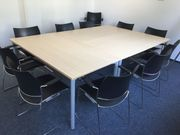 4 x Konferenztisch Besprechungstisch Meetingtisch