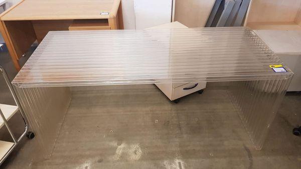 Schreibtisch aus Plexiglas 170x75x75 modern -