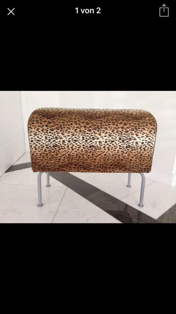 Ikea Hocker Leopardenmuster