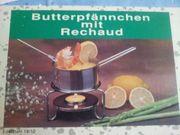 Butterpfännchen mit Rechaud Edelstahl