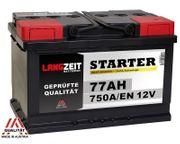 Langzeit Autobatterie 77Ah 750A