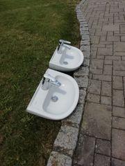 Handwaschbecken 45cm mit Grohe Armatur