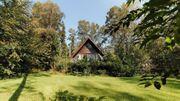 Ferienhaus im Wald mit Kamin