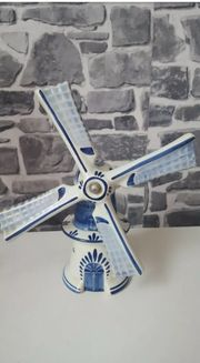 Delfter Porzellan echt handbemalt Windmühle