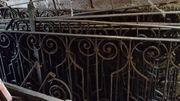 Historischer Zaun Gartenzaun Geländer Antiquität