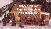 Weihnachtskrippe Krippenstall Krippe Wachsfiguren Krippenfiguren