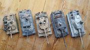 5 deutsche Panzermodelle 2 Weltkrieg