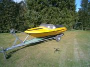Sportboot Motorboot mit Außenborder 6PS
