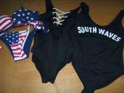 2 Badeanzüge und 1 Bikini