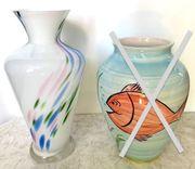 2 schöne große Boden-Vasen