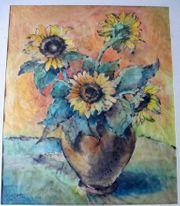 tolles altes Gemälde Herta Meyer