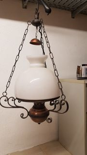 Lampe Hängeleuchte rustikal Kuppelleuchte Schmiedeeisen
