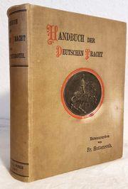 Antik 1892 Buch deutsche Tracht