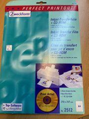 Transferfolie CD-Rom für Baumwolltextilien ovp