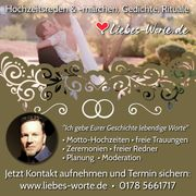 Trauredner - freier Redner - Hochzeitsredner - freie