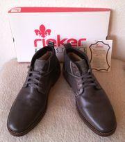 RIEKER Herren Leder Boots Stiefel