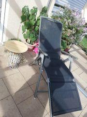 2 Liegestühle Sessel Rückenlehne und