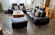 Echtleder Sofa schwarz 2x passenden