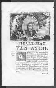 Asch- Pierre Jean van Asch-Maler-Originalkupferstich