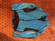 Fahrrad-Jacke blau schwarz Gr 50 -