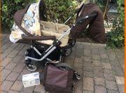 Teutonia Kinderwagen Babyphone und Wickeltasche