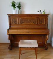 Wunderschönes Jugendstil-Klavier Uebel Lechleiter neu
