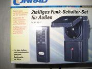 2-teiliges Funkschalter Set für Außen