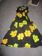 schönes Sommerkleid - M - schwarz gelb