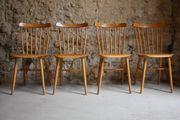 1 v 4 Sprossenstühle Holzstühle