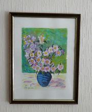 Aquarell Blumen mit Vase