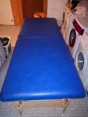 Behandlungsliege Massageliege faltbar blau
