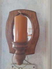 Wandkerze Glassachen Rumtopf Holzfigur Windlicht