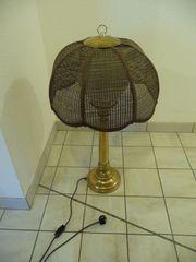 Stehlampe Korbgeflecht ca 80 cm