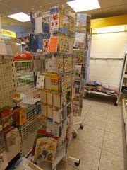 Sticker Etikettenständer rollbar - Verkauf Ladeneinrichtung