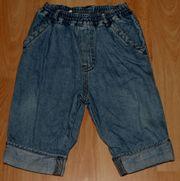 Blaue Jeans-Hose - Größe 74 - Schlupf-Hose -