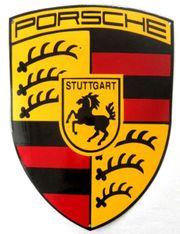 Porsche Emailschild 55 cm Top