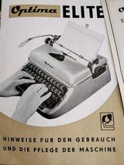 Vintage DDR Reiseschreibmaschine Optima Elite