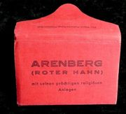 altes Leporello Arenberg-Roter Hahn mit