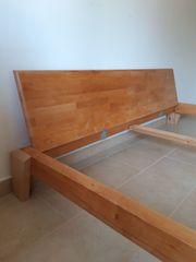 Doppelbett Massivholz Ahorn 180x200