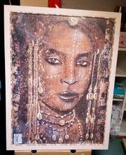 Schöner Kunstdruck einer afrikanischen Frau -