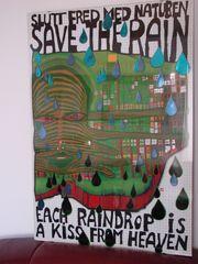 Hundertwasser Originalposter inkl Glasrahmen