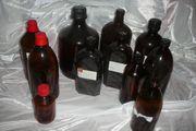 11 Braunglas Flasche Apothekerflasche