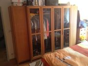 Schlafzimmer Eichenholz Klassisch Schrank Betten
